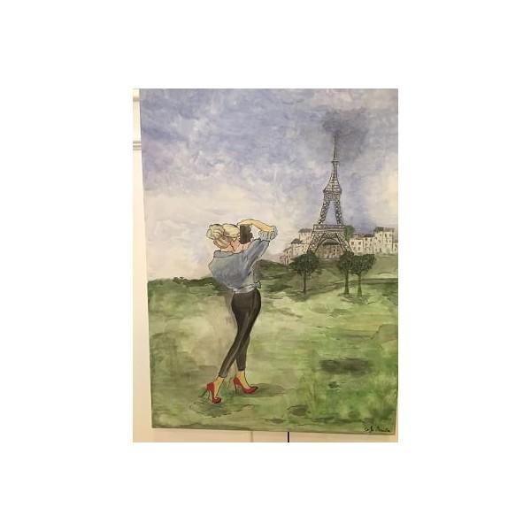 MUJER EN PARIS