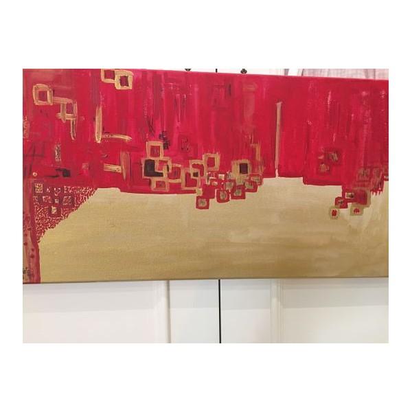 Cuadro pintado a mano de 60 x 30 x 2 cm.