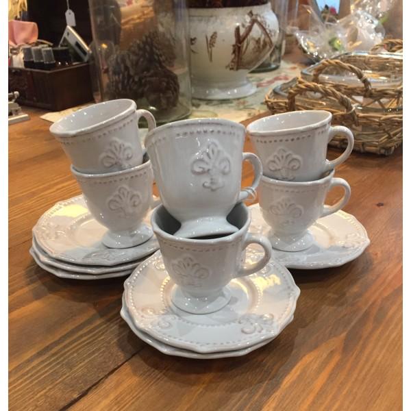 Tazas de Café flor de lis.
